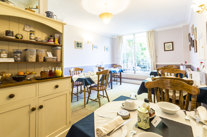 Breakfast room at Edale House B&B Forest of Dean