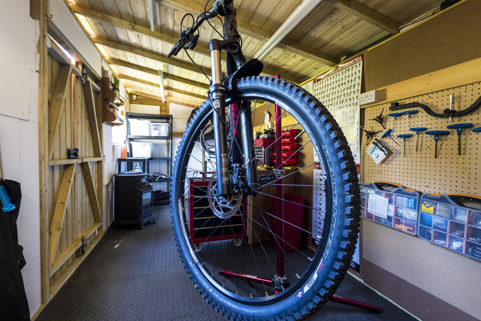 Cycle workshop and secure storage at Edale House B&B in the Forest of Dean