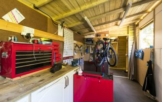 Cycle workshop and secure storage at Edale House B&B