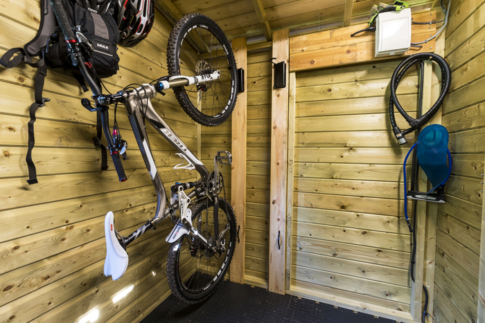 Cycle storage at Edale House B&B in the Forest of Dean